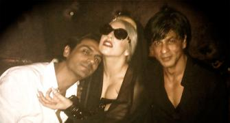 PIX: Shah Rukh parties with Lady Gaga