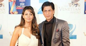 PIX: Shah Rukh, Gauri attend Zee Cine awards in Macau