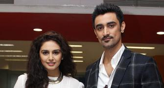 PIX: Kunal Kapoor, Huma Qureshi visit the Rediff office