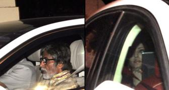 PIX: Bachchans, Hrithik, Sridevi party with Spielberg