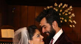 PIX: Jay Bhanushali and Mahi Vij's exotic white wedding