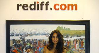 PIX: The Shaukeens star Lisa Haydon visits Rediff offices