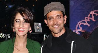 PIX: Hrithik, Sussanne's paths clash at Farah Ali Khan's launch