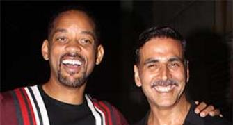 PIX: Akshay parties with Will Smith