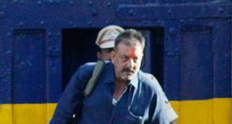 PIX: Sanjay Dutt walks out of Pune's Yerwada jail