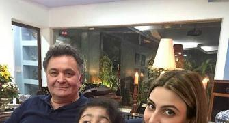 Rishi Kapoor's day out with his granddaughter