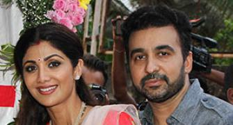 PIX: Shilpa Shetty bids farewell to Ganpati in style