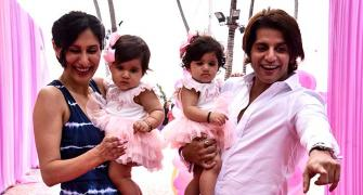 PIX: Karanvir Bohra's daughters turn one, and it's time to party!