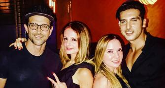 PIX: Hrithik, Sussanne party together