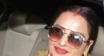 Rekha, Varun watch Padmaavat with DeepVeer
