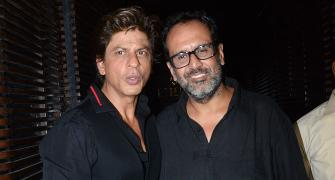 PIX: Shah Rukh, Anushka party with Aanand L Rai