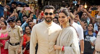Deepika, Ranveer at the Siddhivinayak temple