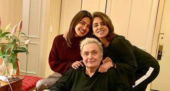 Priyanka catches up with Rishi Kapoor in New York