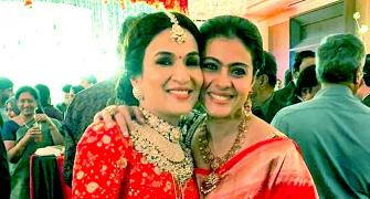 PIX: Kajol, Dhanush celebrate with Soundarya Rajinikanth