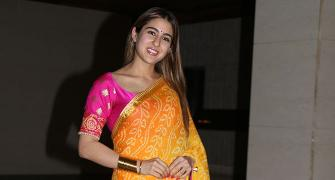 PIX: Sara Ali Khan parties with Varun Dhawan