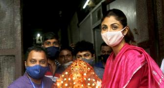 Shilpa Shetty brings Ganpati home