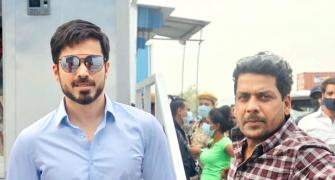 Emraan works hard on a HOT winter day!