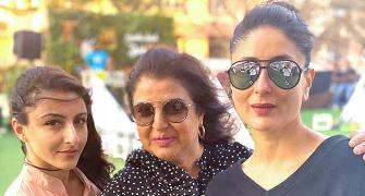 PIX: Kareena, Soha party with Farah Khan