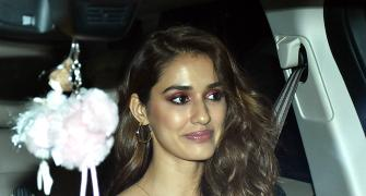 PIX: Disha, Shraddha step out for a movie