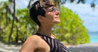 PIX: Mandira Bedi's BIKINI holiday in Maldives