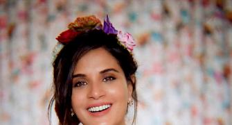 Why is Richa Chadha smiling?