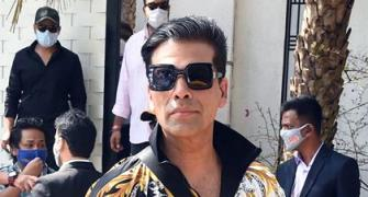 Karan Johar arrives for Varun's wedding!