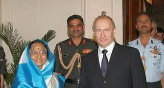 Vladimir Putin has a hectic day in New Delhi