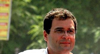 Rahul holds road show in Varun's seat ahead of filing nomination