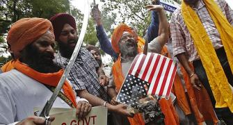 'Why are these stupids in India burning the US flag?'
