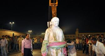 PICS: Mayawati's statue re-installed OVERNIGHT!