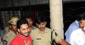 PIX: Police ends Jagan's fast in jail; shifts him to hospital