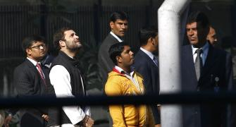PHOTOS: What made Rahul wait in a queue for 30 mins?