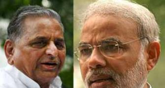 My leader strongest: Modi, Mulayam set for face-off in UP