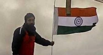 Hoisting the Indian flag where no one else has