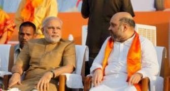 Modi aide Amit Shah booked for 'revenge' remark