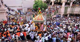 Lord Jagannath's rath rolls out in Ahmedabad