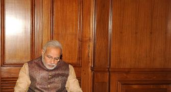 IN PHOTOS: Modi sarkar goes to office
