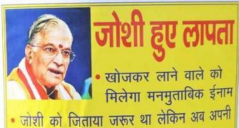 'Murli Manohar Joshi missing' posters emerge in Kanpur streets