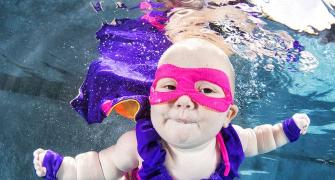 PHOTOS: These babies take the plunge