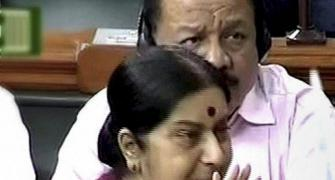 Rahul, ask mum why dad helped Quattrocchi: Sushma's fiery defence