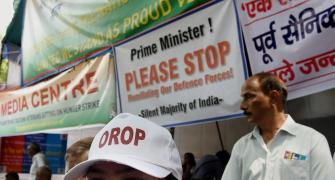 Union minister VK Singh's daughter joins OROP protest