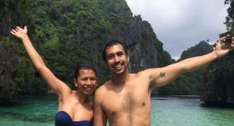 This couple's honeymoon is like nothing you have seen