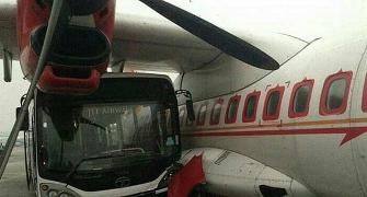 Jet Airways bus rams into Air India aircraft in Kolkata