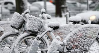 PHOTOS: Snow gods smile on Europe