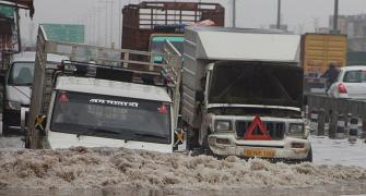Heavy rains leave Delhi waterlogged, reeling under jams