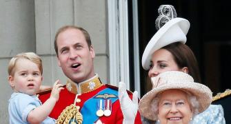 Adorable alert! Prince George steals Queen's birthday show
