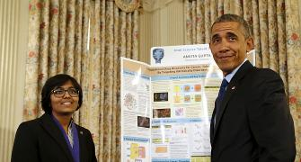 Indian American teen scientists impress Obama