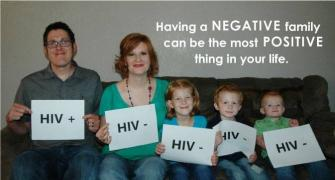 Shattering stigmas: HIV-positive man posts pics of healthy family on FB