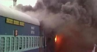 Fire in 3 trains at Puri station, no casualty