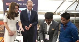 Learning Braille, making a dosa... All in a day's work for William and Kate